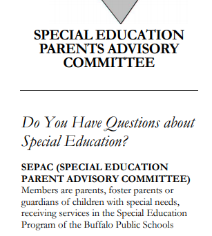 Special Education Parent Advisory Committee (SEPAC)