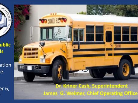 First Student Transportation Update