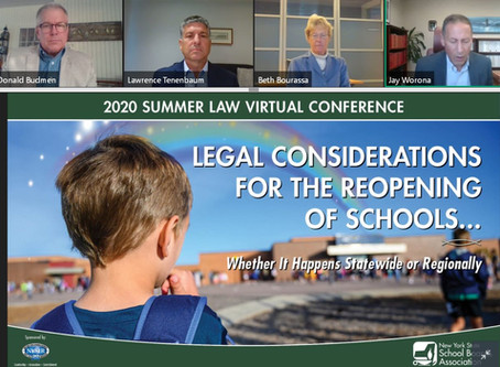 NYSSBA Law Conference on Reopening Schools