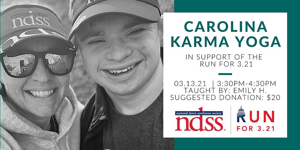 Carolina Karma Yoga (Run for 3.21)