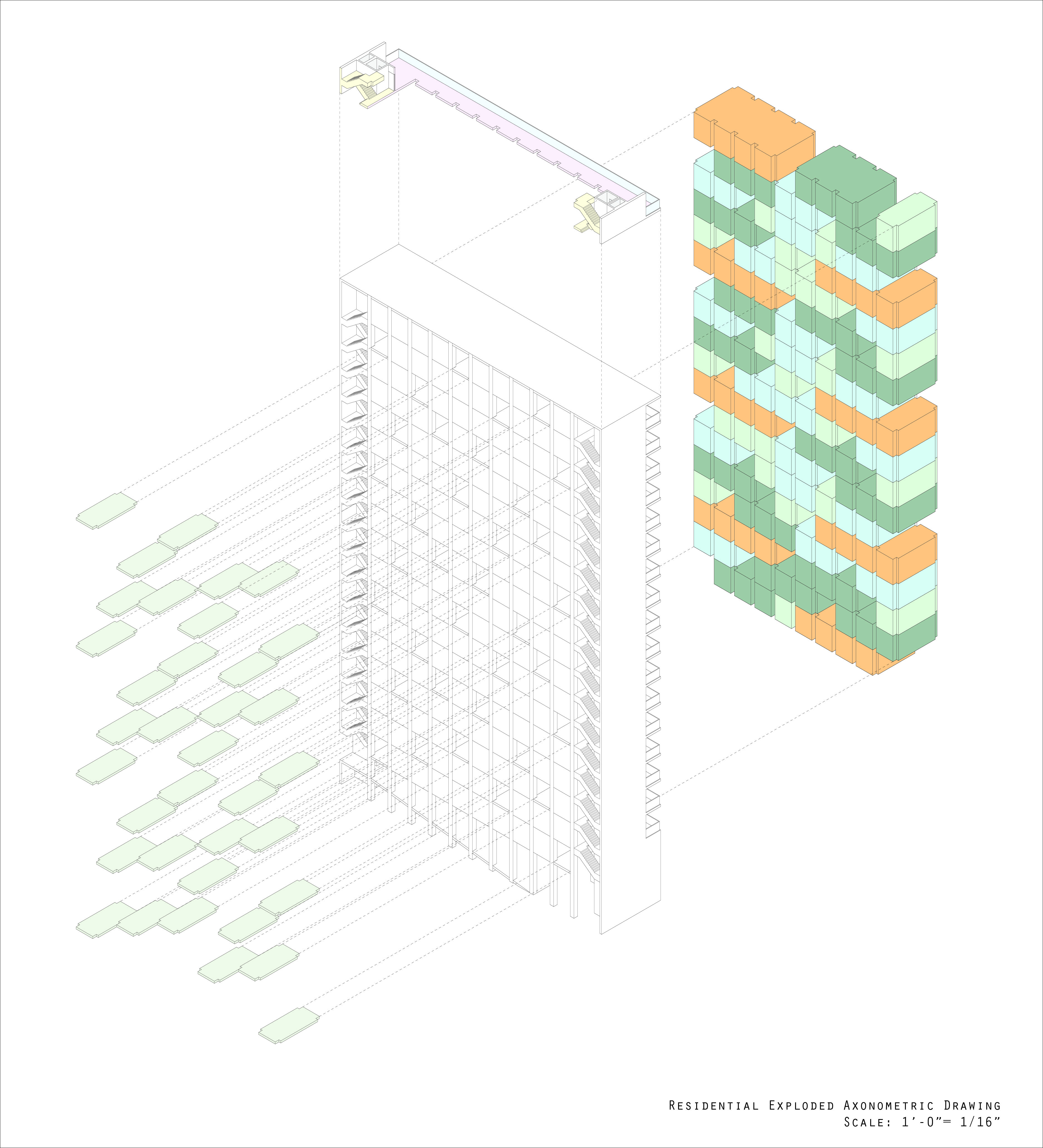 Axonometric | Housing in Brooklyn