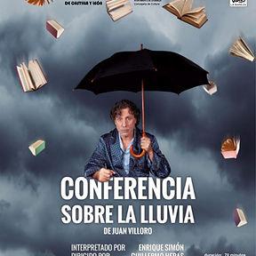 Cartel Conferencia sobre la lluvia prens