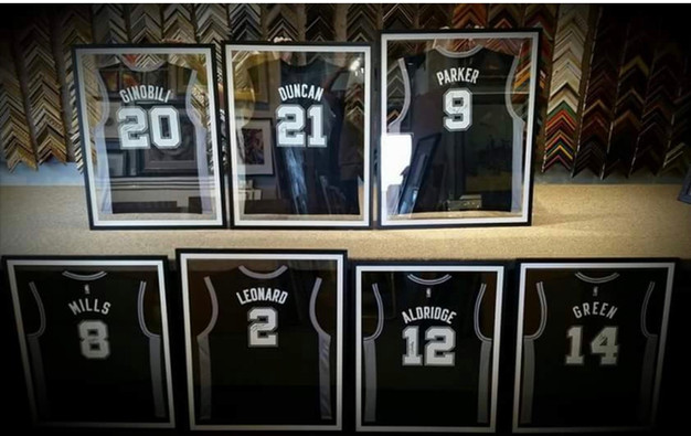 Spurs Jerseys in Double Glass