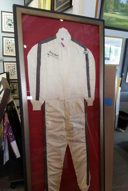 Vintage Racing Suit on Fabric Board