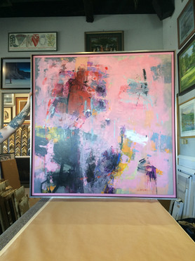 Abstract Painting in Floater Frame
