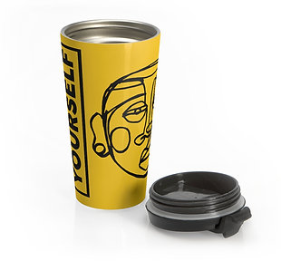 'Face Yourself' Stainless Steel Travel Mug
