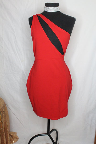 Red Riding Side Peek Dress