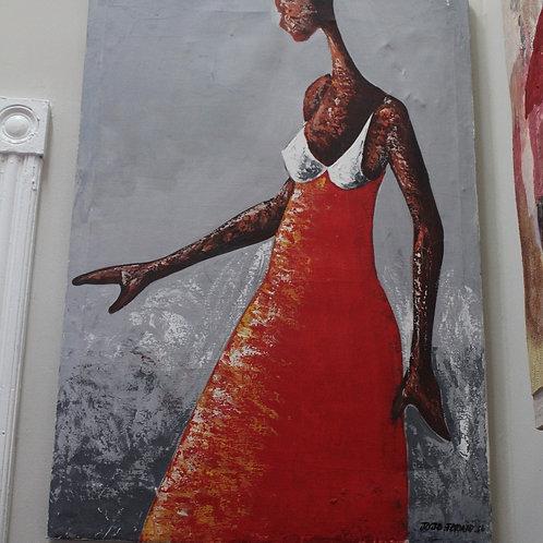Lady in Red x JoJo Fekwa (Unframed)