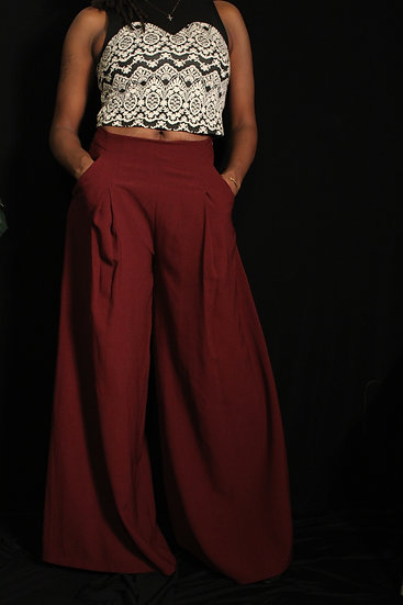 'Raspberry Wide' Pants