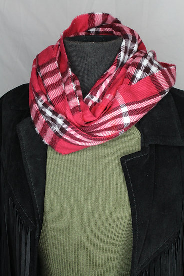 Flannel Mini Infinity Scarf