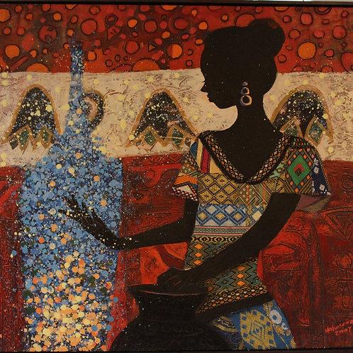 Woman's Water Vessel x Nahosenay Negussie (Framed)