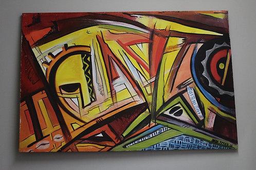Abstract 1 x Jofo Fekwa (Unframed)