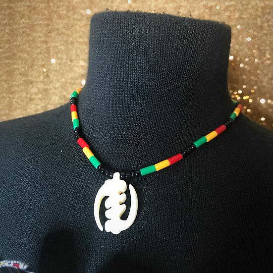 We Gye Nyame Beaded Necklace