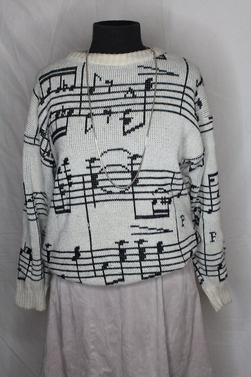 By the Note Sweater