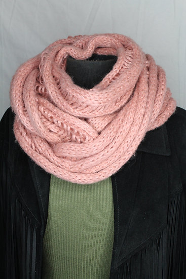 Rose Knit Infinity Scarf
