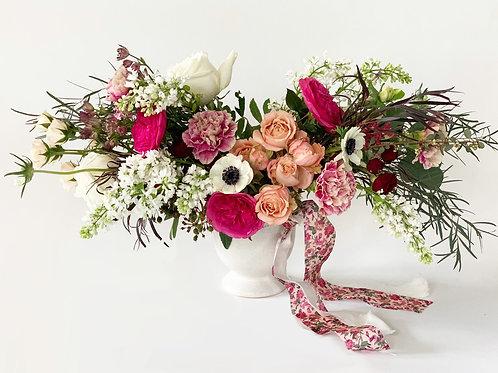 Large Valentine's Arrangement in Ceramic Vase