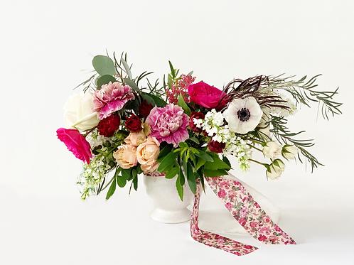 Medium Valentine's Arrangement in Ceramic Vase