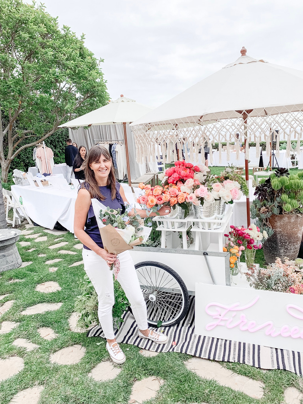 A custom flower cart for weddings, events, corporate events, handmade bouquets, DIY bouquets, fundraisers, business retreats, DIY flower cart, Display flower cart, vinatge flower cart, old fashioned flower cart.
