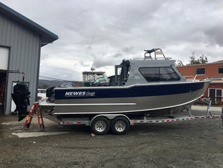 Hewescraft 250 Alaskan --  New Boat for Alaska Wide Open Charters