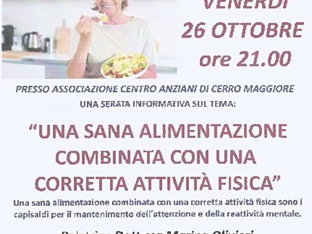 26/10/2018 - ALIMENTAZIONE E ATTIVITA' FISICA