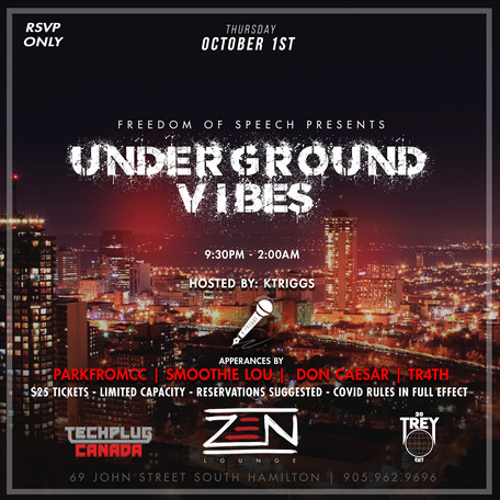COMING UP: Underground Vibes with Ktriggs, ParkFromCC, Smoothie Lou, etc.