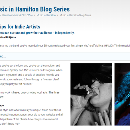 The City of Hamilton: Marketing Tips for Indie Artists