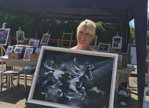 News and images from HorseWorld Trust: Local Artist is painting to help saved neglected ponies.