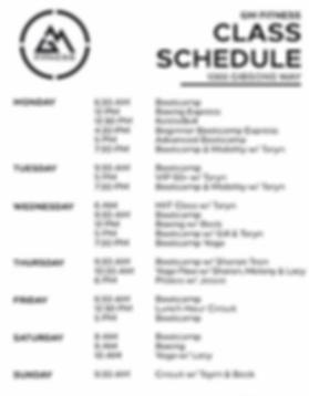 GM Fitness Class Schedule