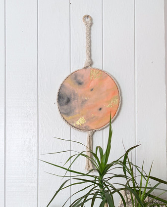 Golden Macramé Moon