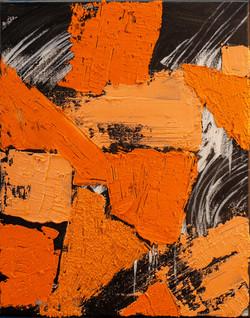 Orange on Black #1