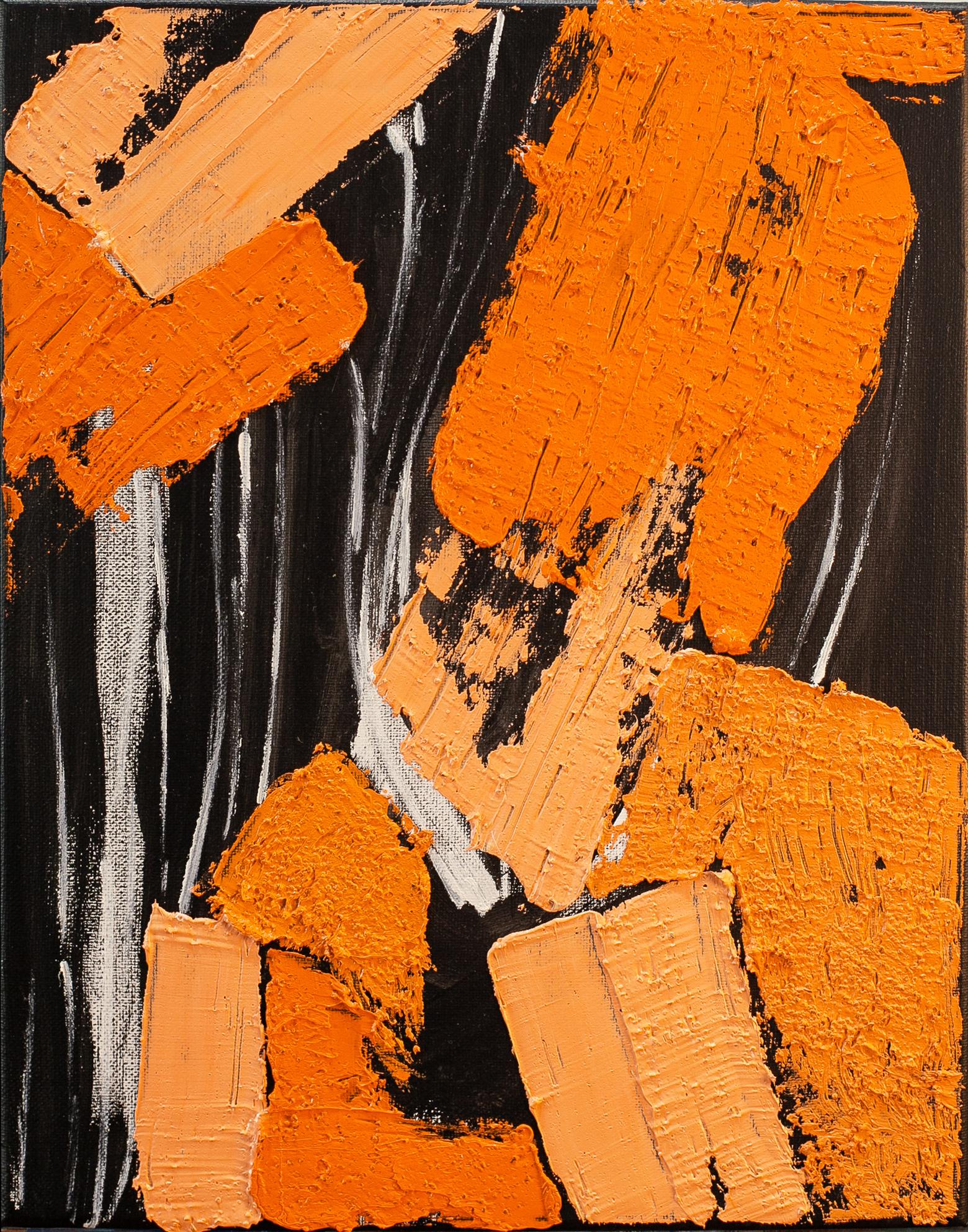 Orange on Black #3