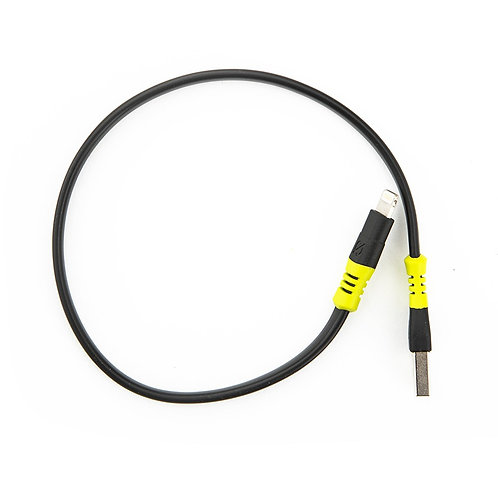 """כבל טעינה USB ל-LIGHTNING אורך 25 ס""""מ"""