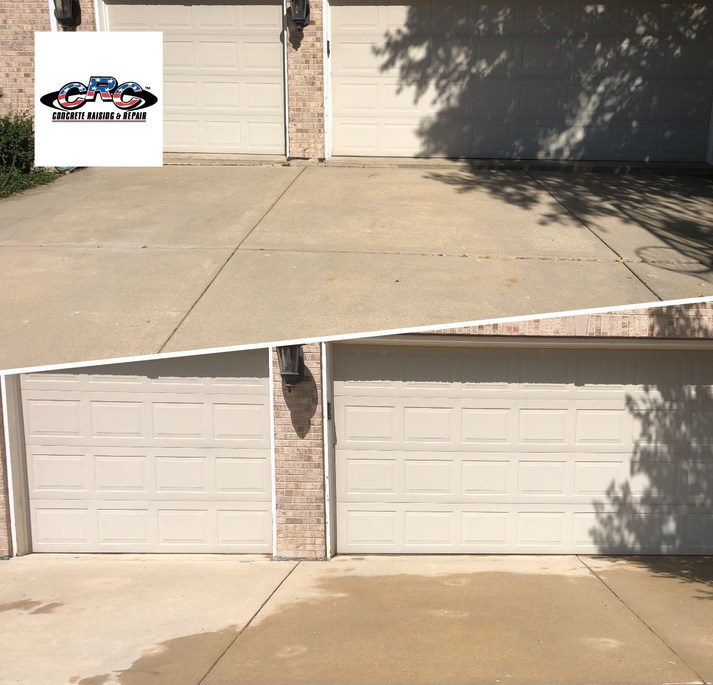 Raising Concrete Slabs on a Driveway so You Can Crive a Car into Garage Without a Bump