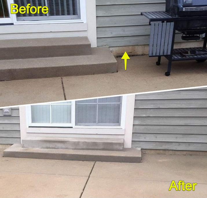 Concrete Lifting and Repitching Back Patio
