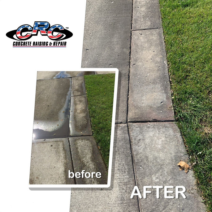 Eliminating Water Pooling and Ice Spot by Raising Concrete Driveway