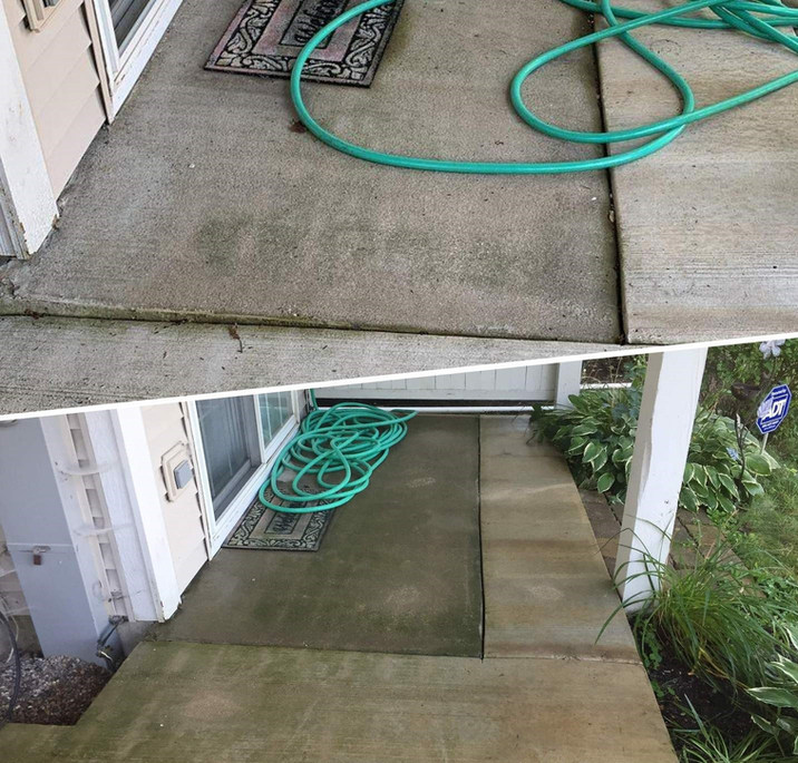 Raising Concrete Slab Framed in between Other Slabs, to Eliminate Tripping Hazard