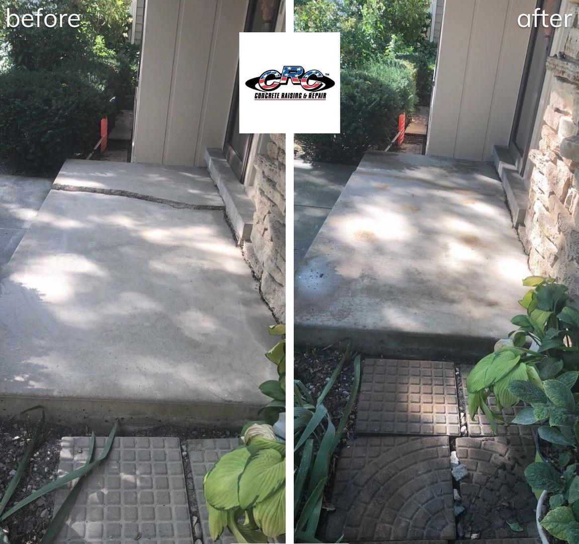 Raising Sunken and Cracked Concrete Stoop