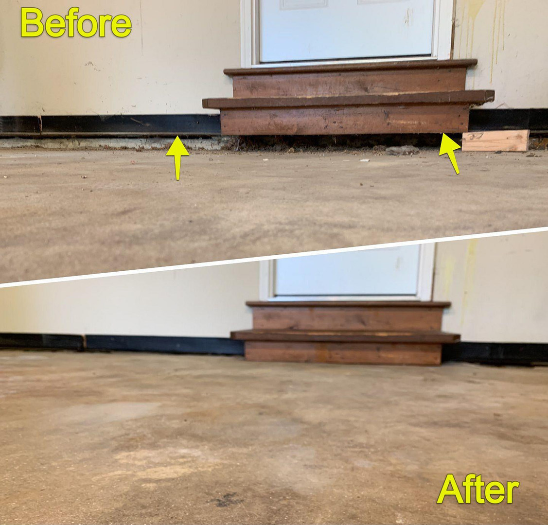 Concrete Lifting Garage Floor, Voidfilling