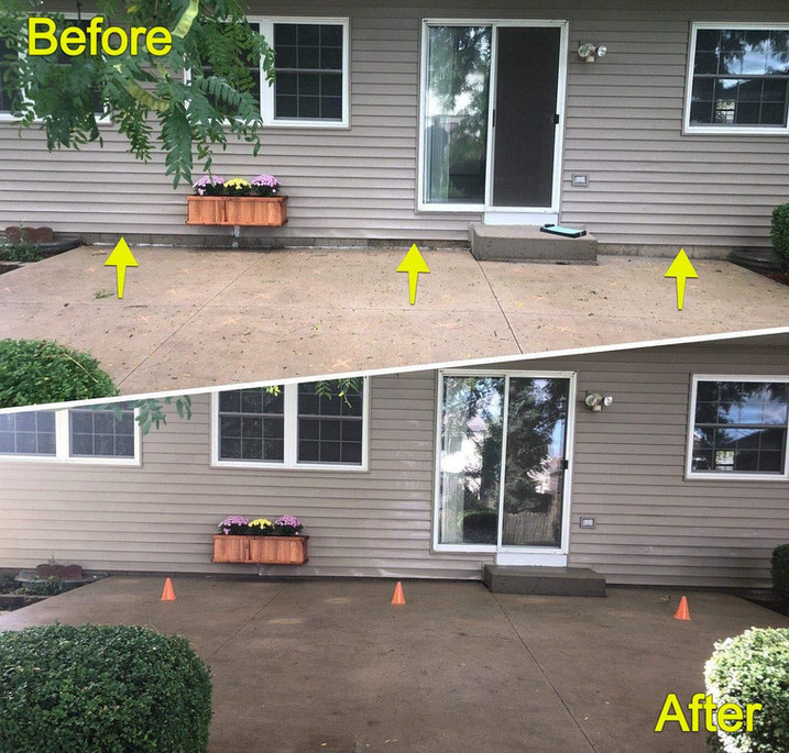 Avoid Water Pooling by Raising Back Patio Concrete
