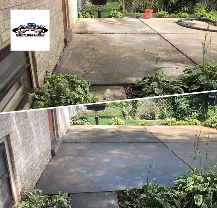 Raising Rear Patio Concrete Slabs to Original Level