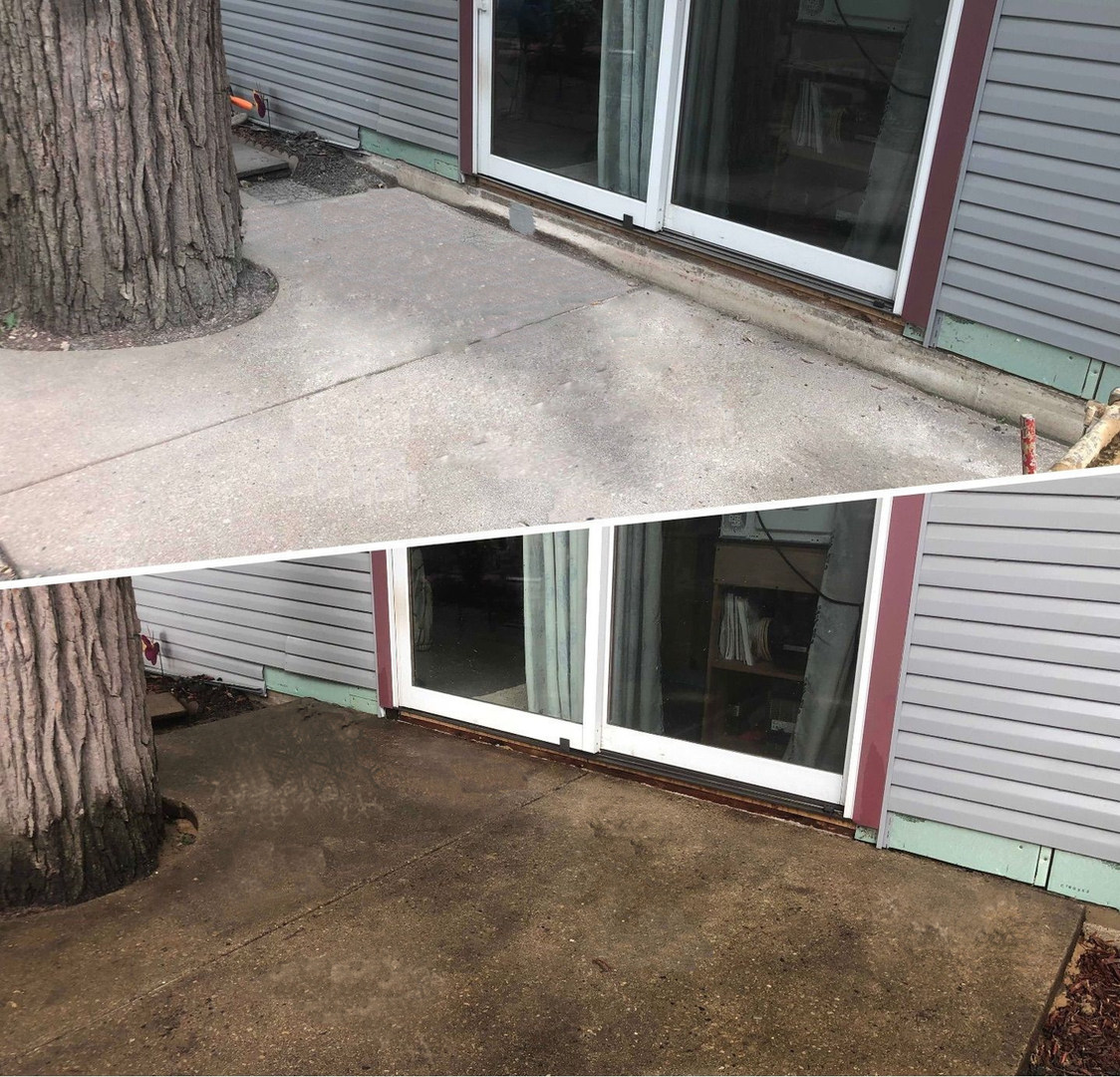 Lifting, Re-Pitching Concrete Patio Slabs to Avoid Water Flooding the House