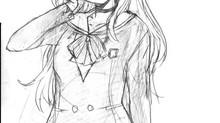 中等部制服姿の「瀬梨華」とOL服の「静」のラフ絵を頂きましたっ!☆