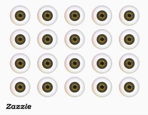 Brown Eyeball Stickers