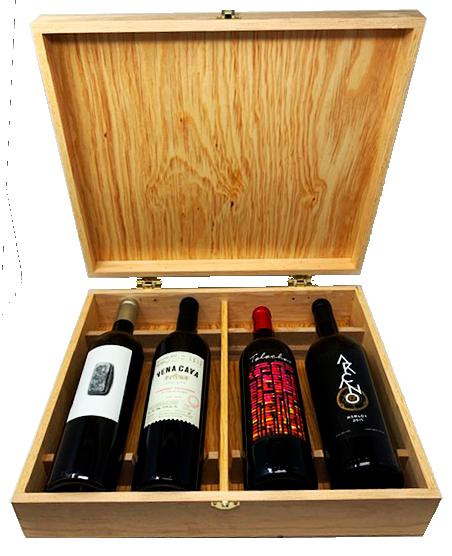 Caja de Regalo para 4 vinos