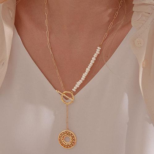 Collar Corbatin Perlas