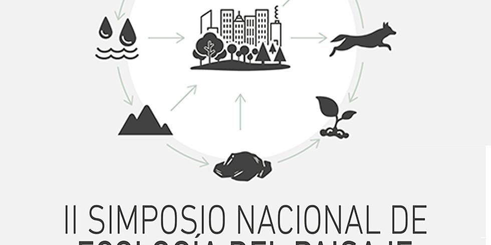 II SIMPOSIO NACIONAL DE ECOLOGÍA DEL PAISAJE