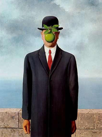 """Diamond Painting """"30 x 40"""" The Son of Man Rene Magritte"""
