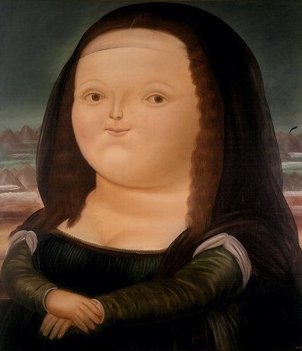 "Diamond Painting ""30 x 40"" Monalisa de Botero"