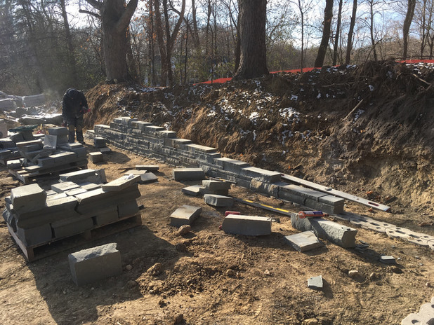 Lakeside Bluestone Retaining Wall