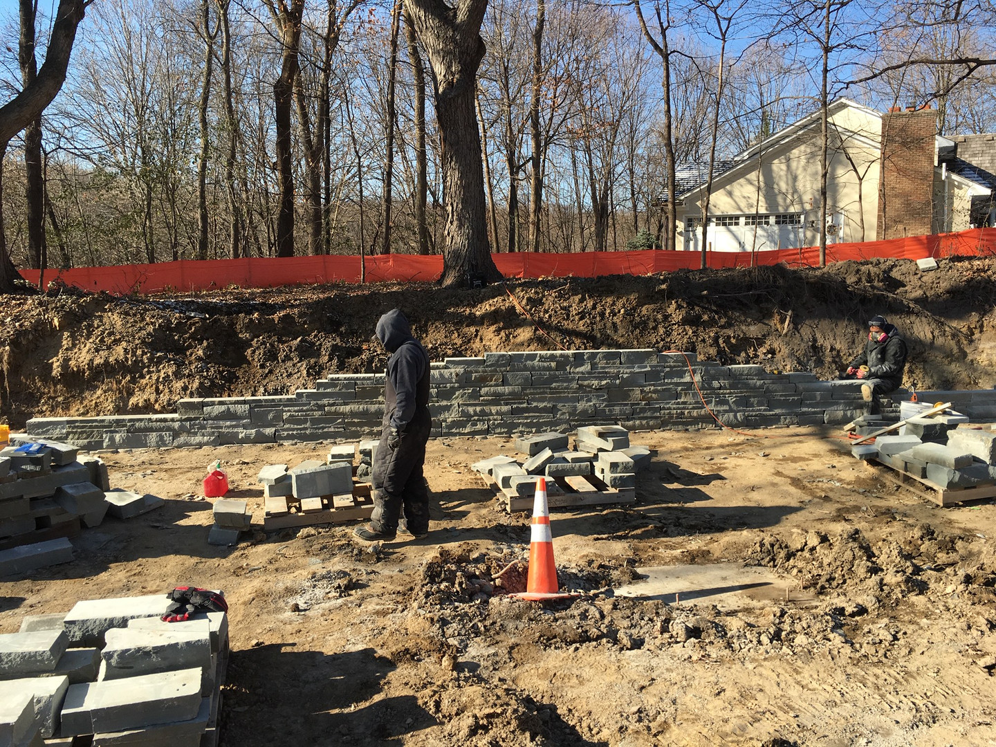 Lakeside Bluestone Retaining Wall